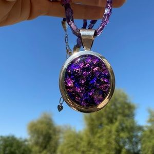 Jay King Amethyst Necklace + Sterling Pendant